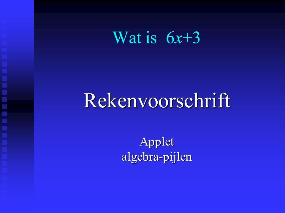 Expressie Applet algebra-expressies