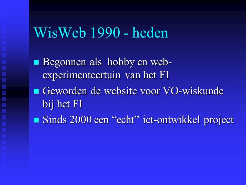 WisWeb op KIC2002 woensdag 10 april 2002 www.wisweb.nl Freudenthal Instituut