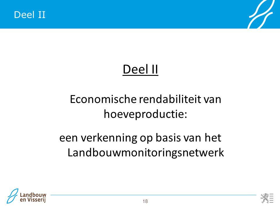 18 Deel II Economische rendabiliteit van hoeveproductie: een verkenning op basis van het Landbouwmonitoringsnetwerk