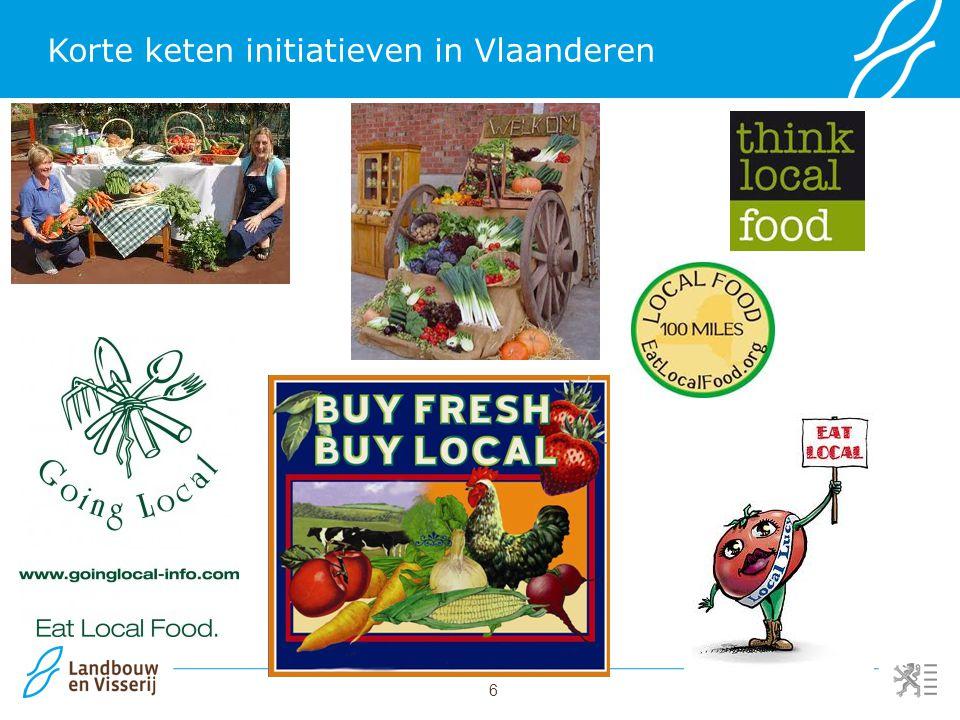 6 Korte keten initiatieven in Vlaanderen