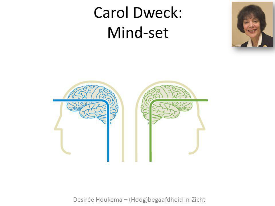 Carol Dweck: Fixed versus Growth Mind-set hoog begaaf d ontwikkelingsp otentieel
