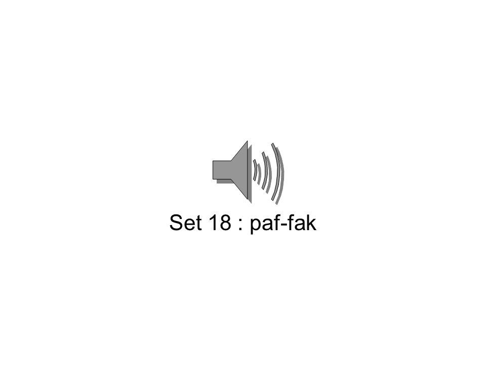 Set 17 : sik-kas
