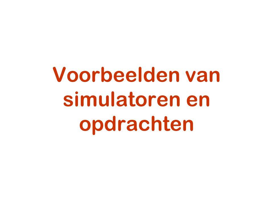 Voorbeelden van simulatoren en opdrachten