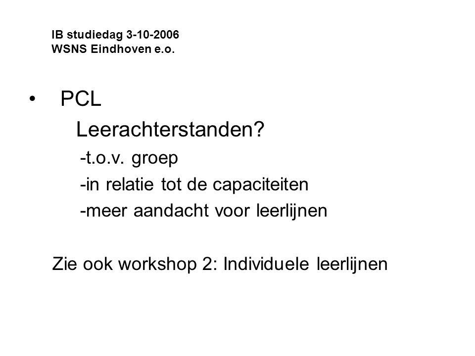 PCL Leerachterstanden.-t.o.v.