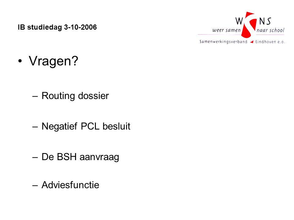 IB studiedag 3-10-2006 Vragen.