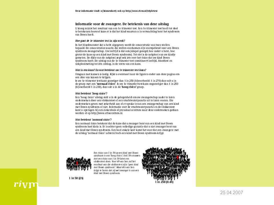 25.04.2007 Counselingscursus UMCU- Peter Schielen