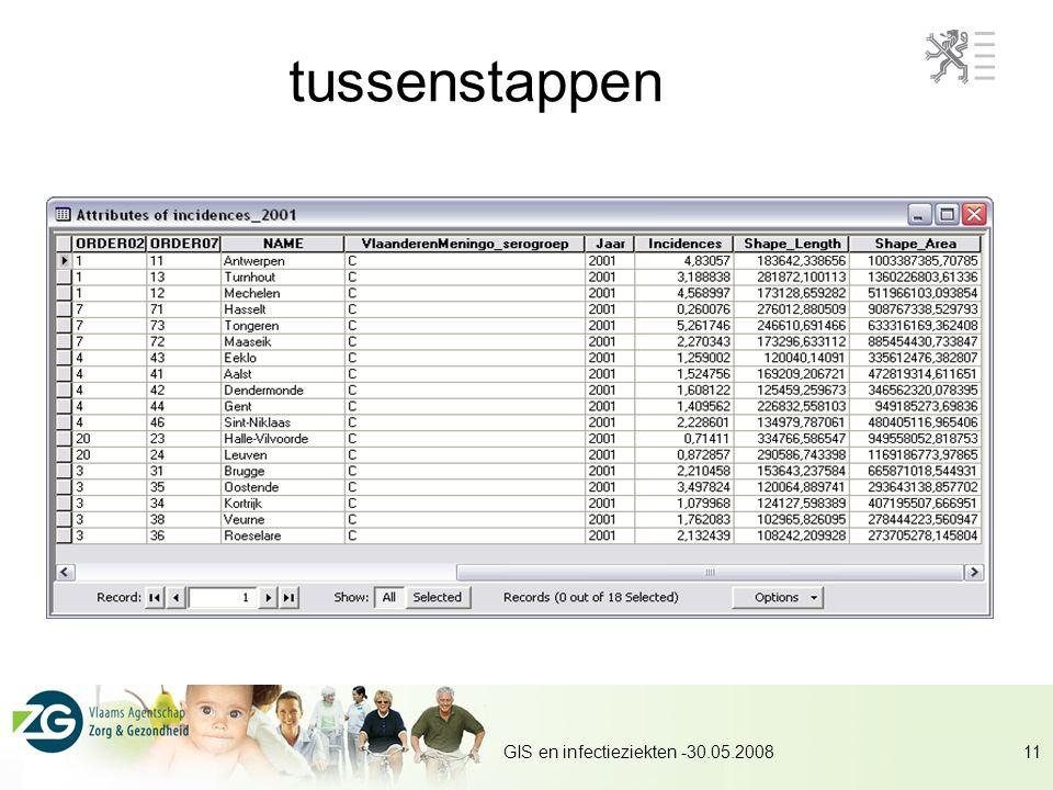 GIS en infectieziekten -30.05.200811 tussenstappen