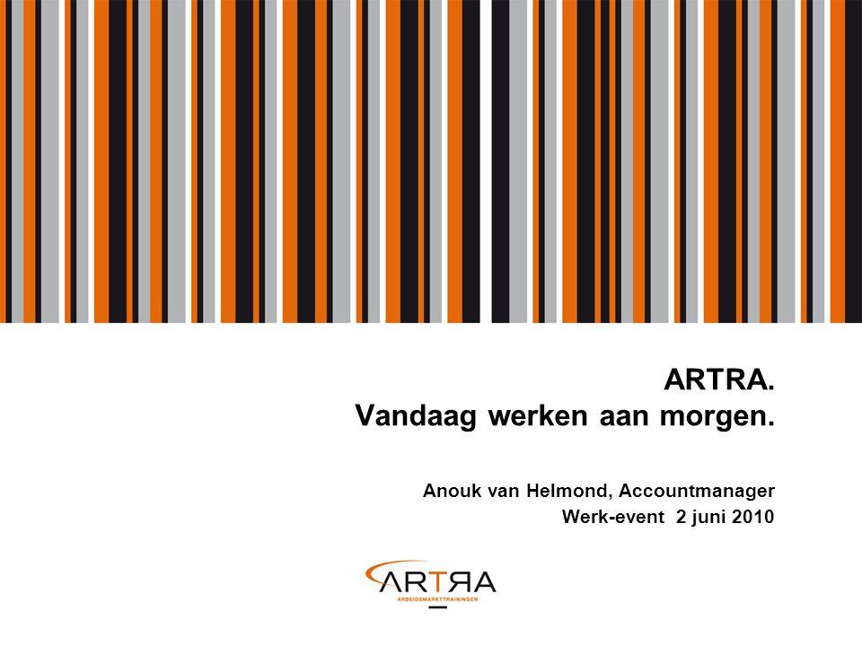ARTRA. Vandaag werken aan morgen. Anouk van Helmond, Accountmanager Werk-event 2 juni 2010