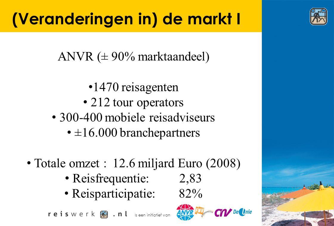 Is een initiatief van (Veranderingen in) de markt I ANVR (± 90% marktaandeel) 1470 reisagenten 212 tour operators 300-400 mobiele reisadviseurs ±16.00
