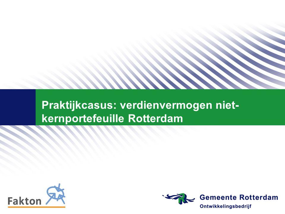 Praktijkcasus: verdienvermogen niet- kernportefeuille Rotterdam
