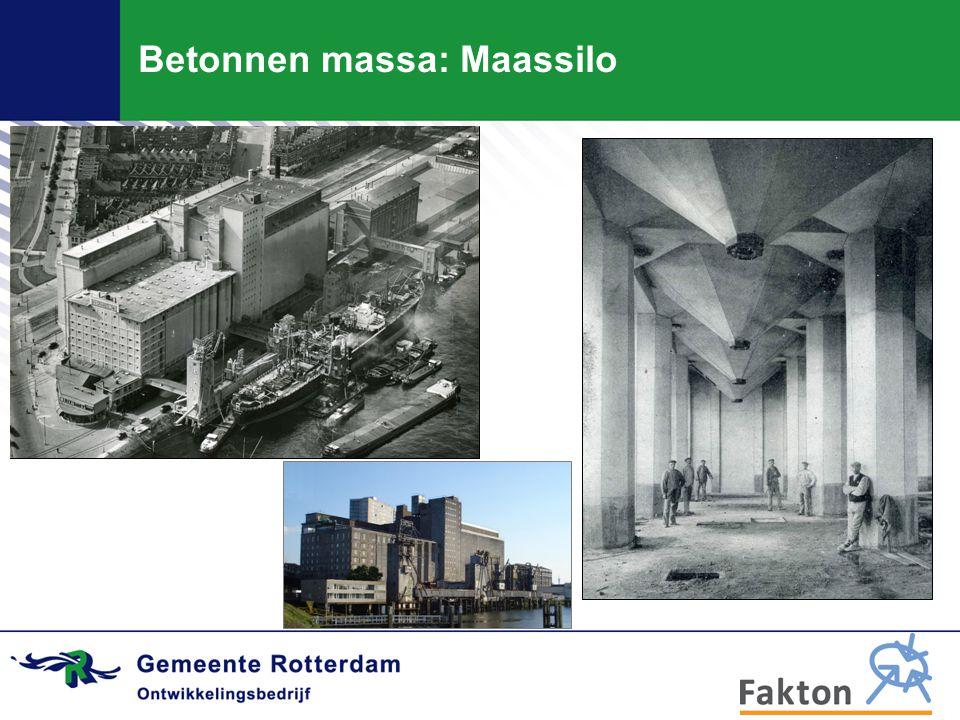 Betonnen massa: Maassilo