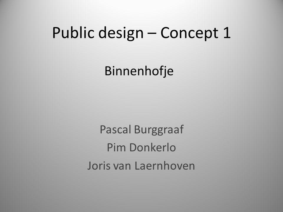 Public design – Concept 1 Pascal Burggraaf Pim Donkerlo Joris van Laernhoven Binnenhofje