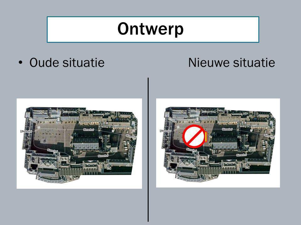 Huidige situatie: Het binnenhof is letterlijk het politieke centrum van Nederland waar zich dagelijks massa's politici en pers begeven.