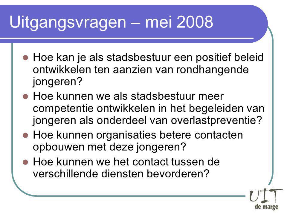 Juni-september 2008 Bevraging basisconsensus.