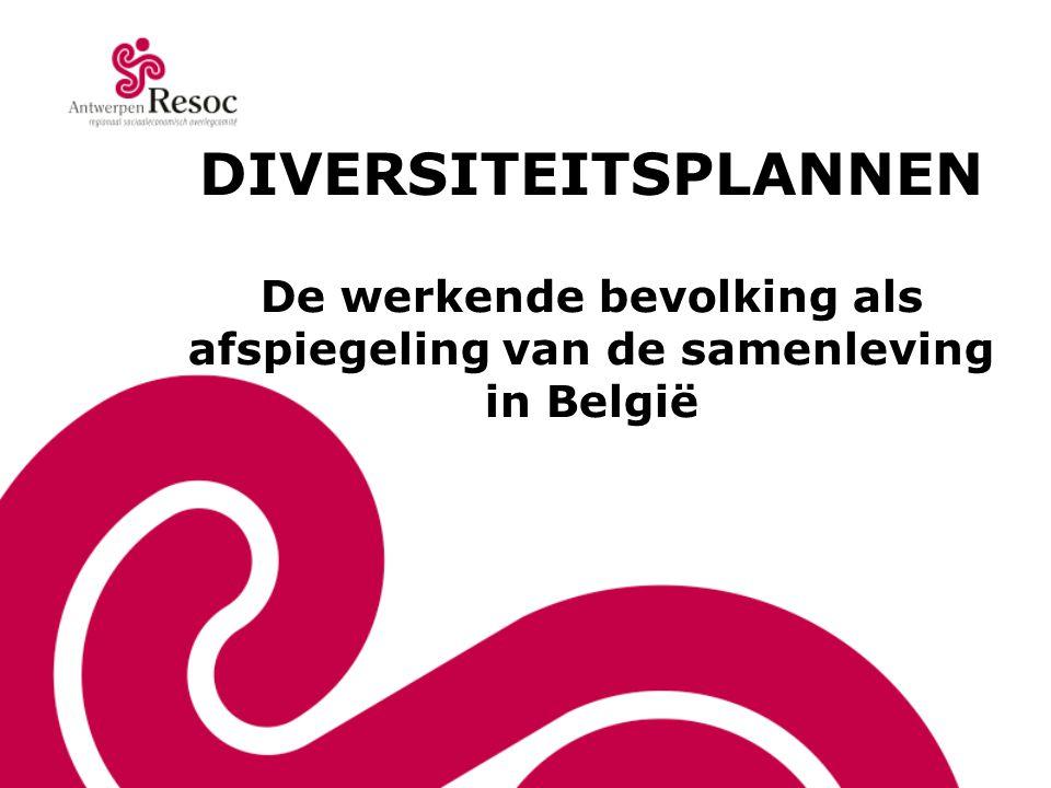 DIVERSITEITSPLANNEN De werkende bevolking als afspiegeling van de samenleving in België