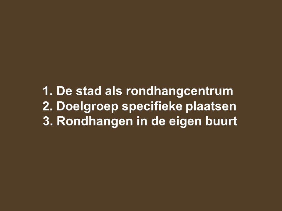 De stad als rondhangcentrum Jongeren uit heel Antwerpen en uit de buurgemeenten.