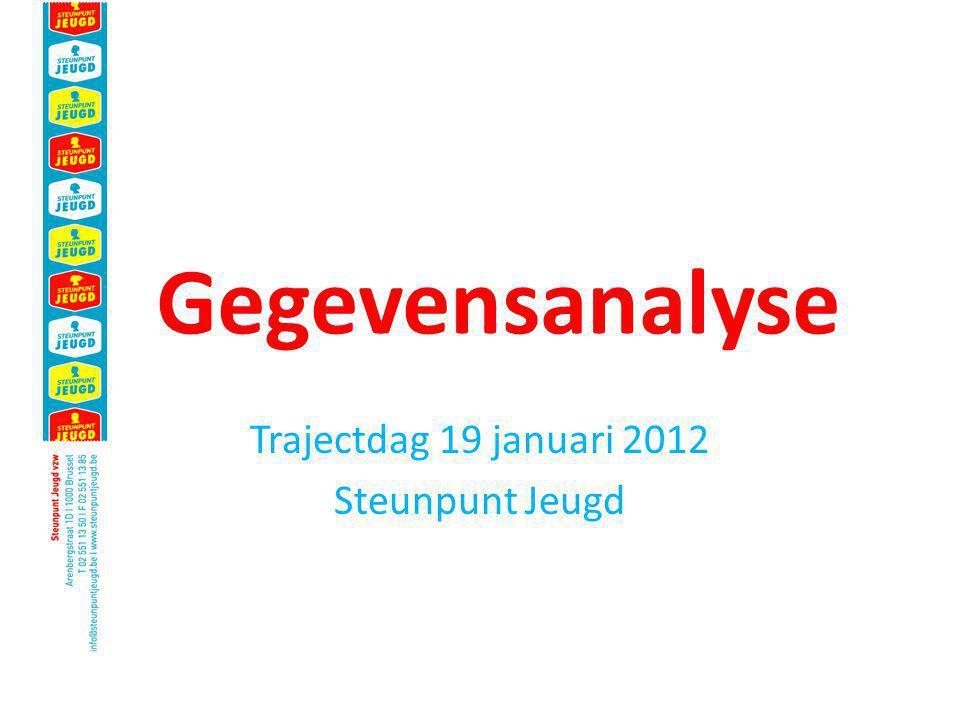 Gegevensanalyse Trajectdag 19 januari 2012 Steunpunt Jeugd