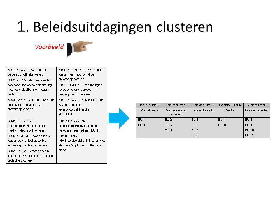 1. Beleidsuitdagingen clusteren Voorbeeld
