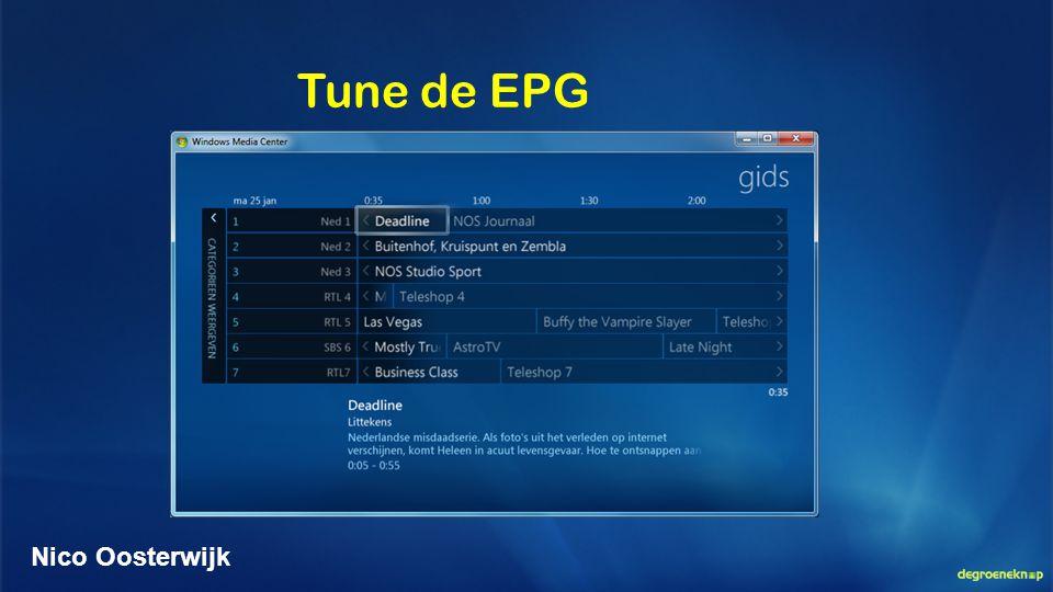 Tune de EPG Nico Oosterwijk