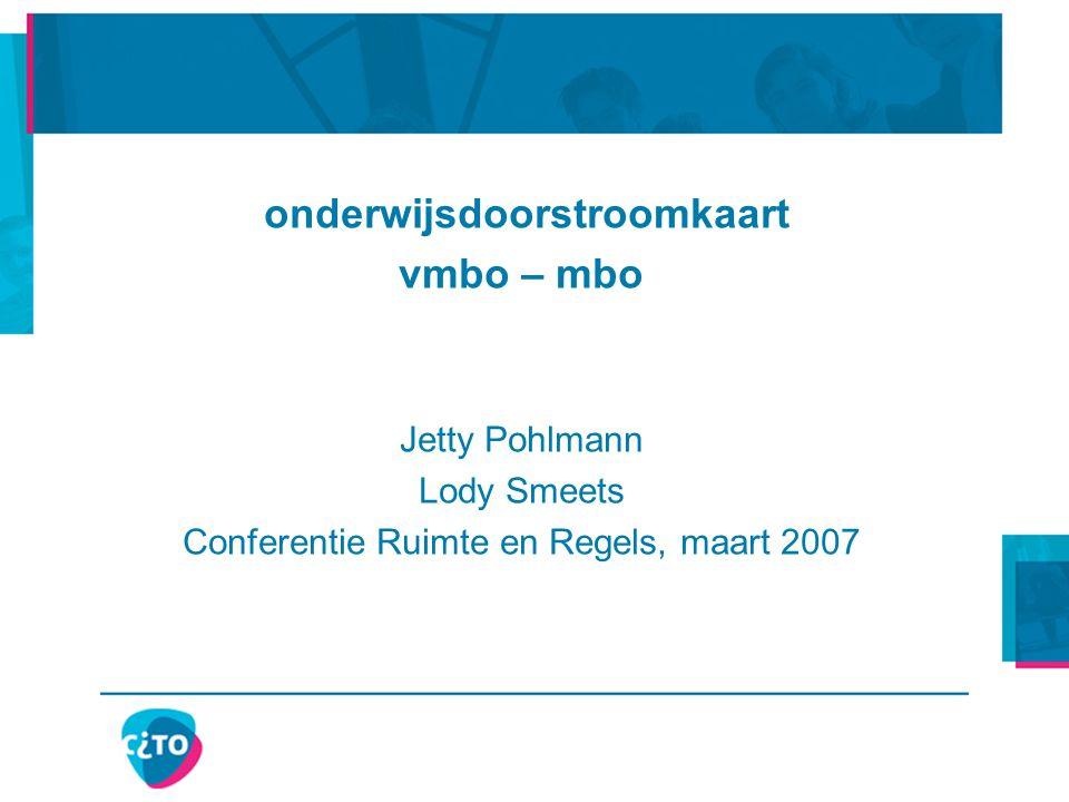 21-9-2014 © Cito Arnhem, Esloo, Northgo, Stichting Willibrord, ROC ASA 22 Samenvattend profiel doorstroomkaart