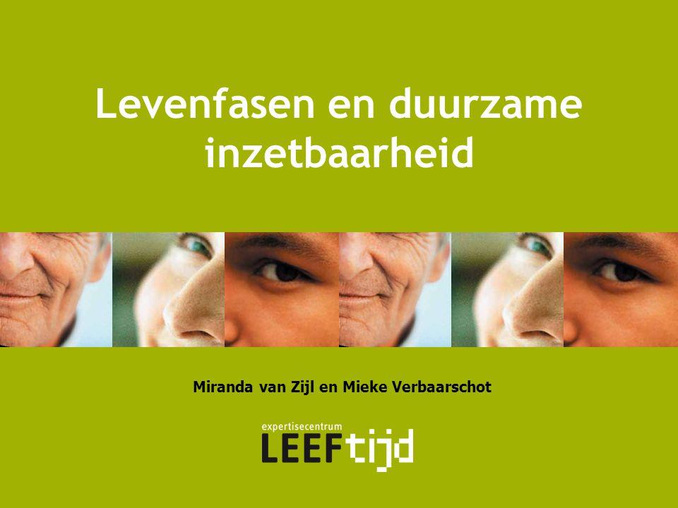 Levenfasen en duurzame inzetbaarheid Miranda van Zijl en Mieke Verbaarschot