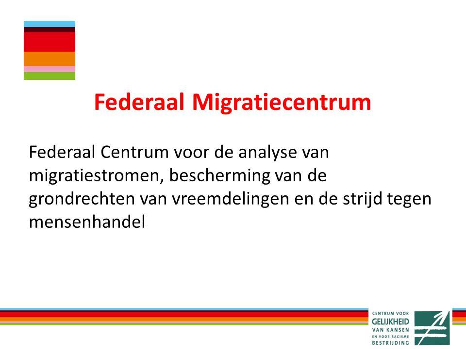 Federaal Migratiecentrum Federaal Centrum voor de analyse van migratiestromen, bescherming van de grondrechten van vreemdelingen en de strijd tegen mensenhandel