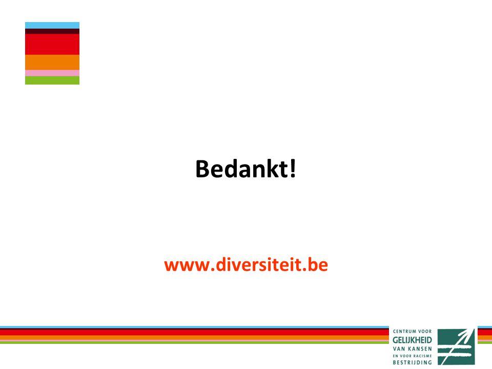 www.diversiteit.be Bedankt!