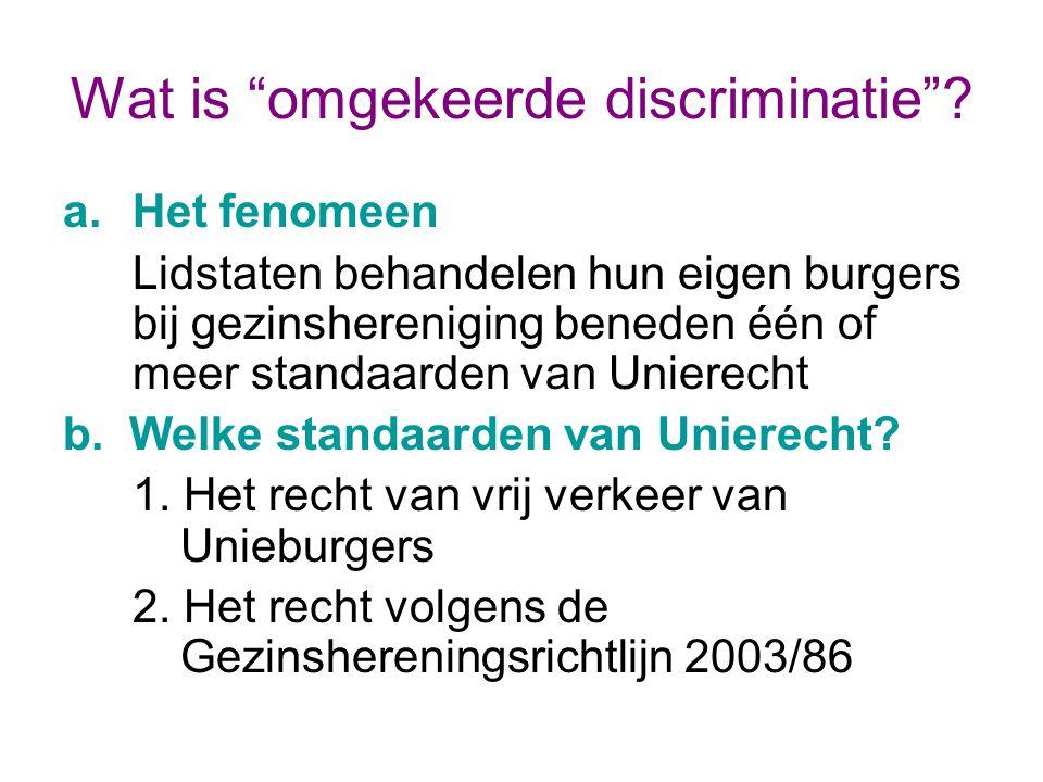 Wat is omgekeerde discriminatie .