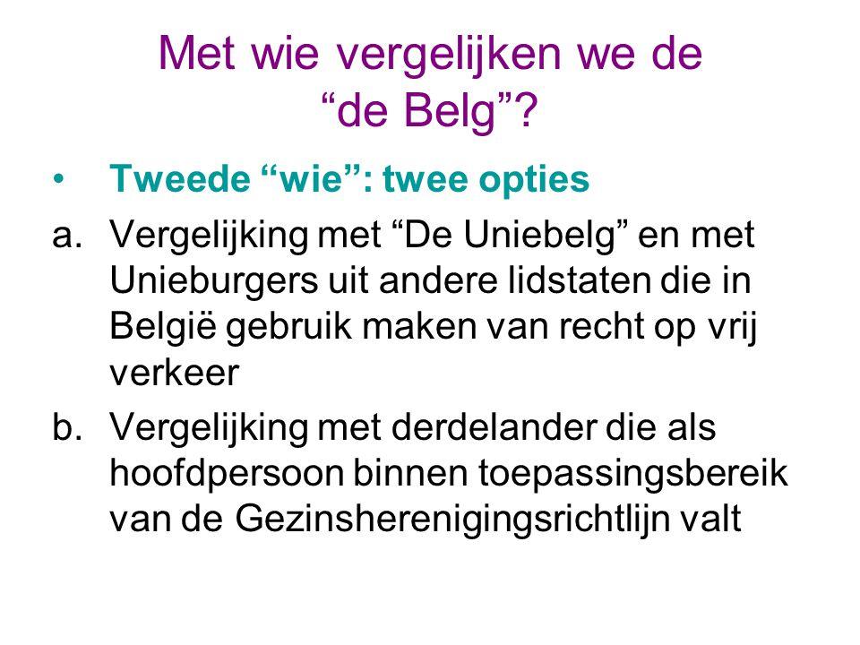 Met wie vergelijken we de de Belg .