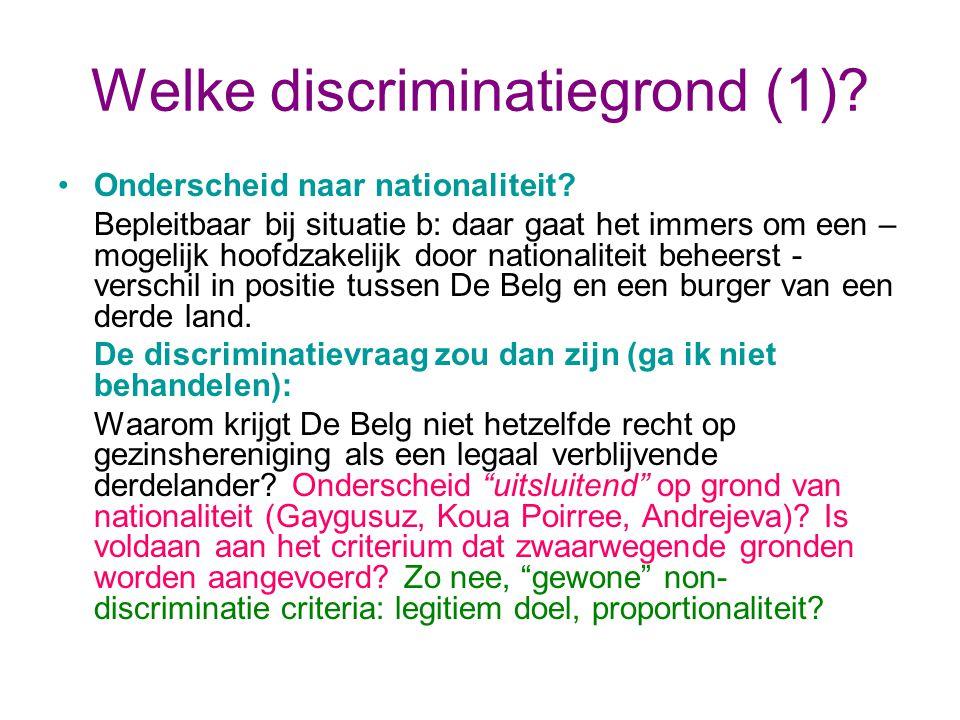 Welke discriminatiegrond (1).Onderscheid naar nationaliteit.