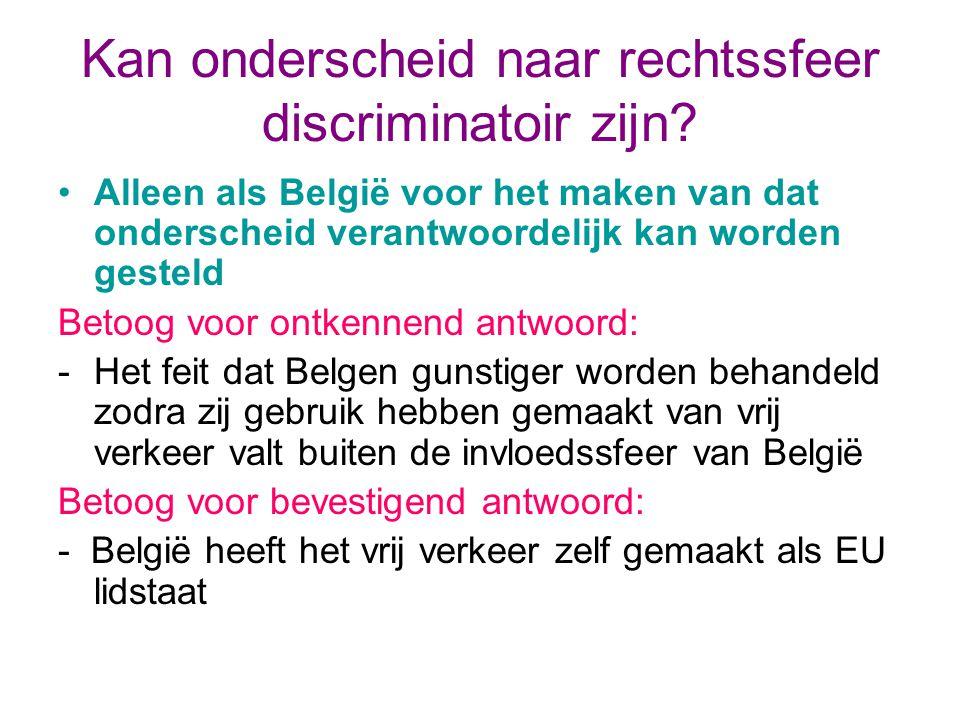 Kan onderscheid naar rechtssfeer discriminatoir zijn.