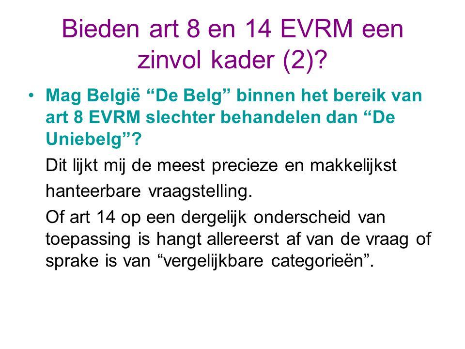 Bieden art 8 en 14 EVRM een zinvol kader (2).