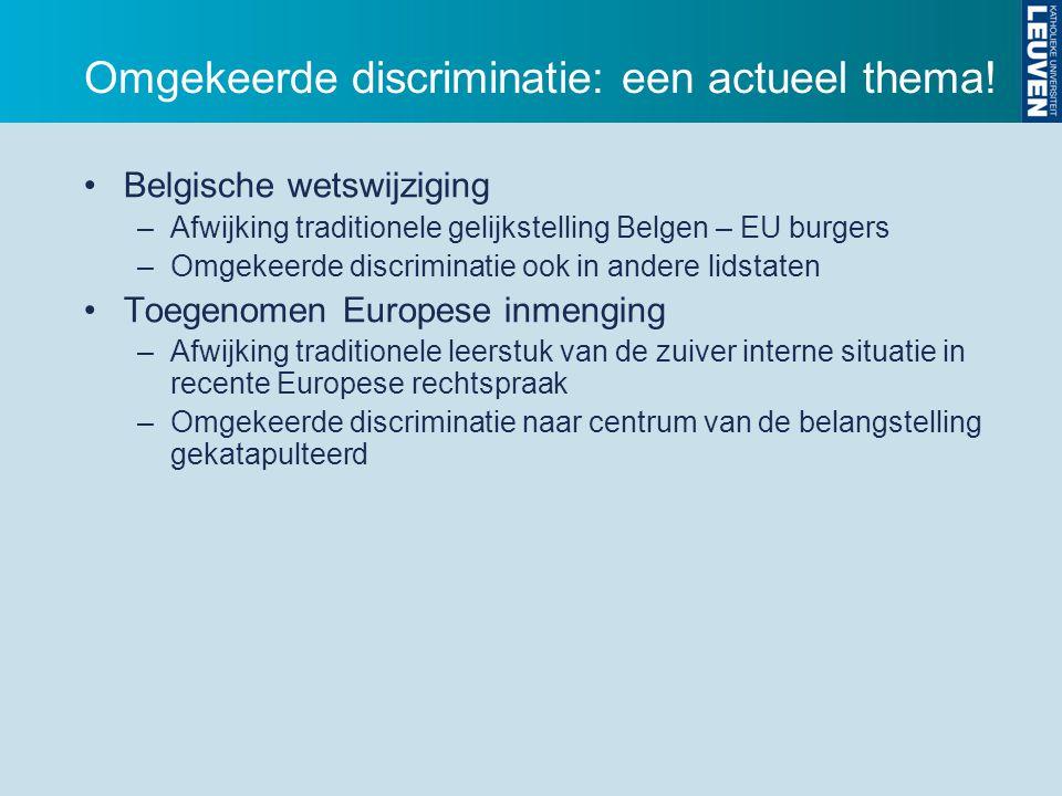 Omgekeerde discriminatie: een actueel thema.