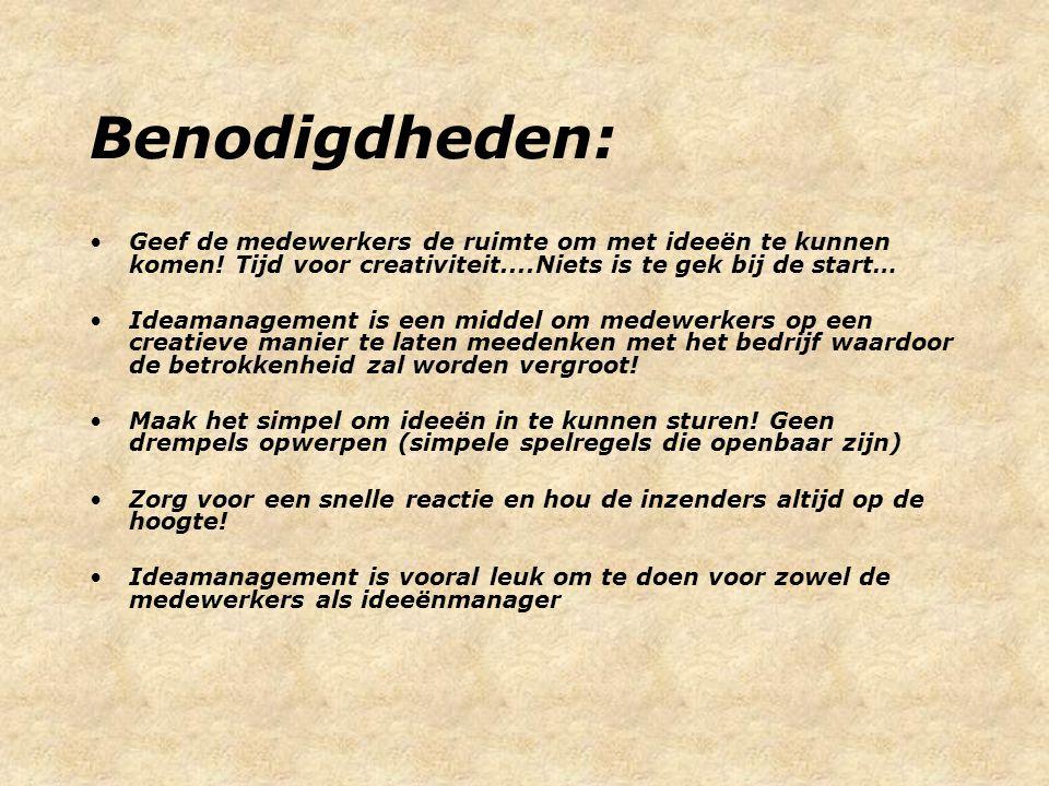 Contact: René Blok www.ideamanagement.nl timis@planet.nl 06-25083514