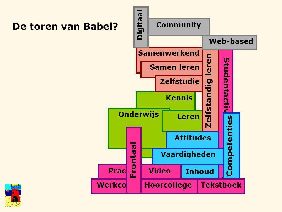 Practicum Werkcollege Studentactiverend onderwijs De toren van Babel.