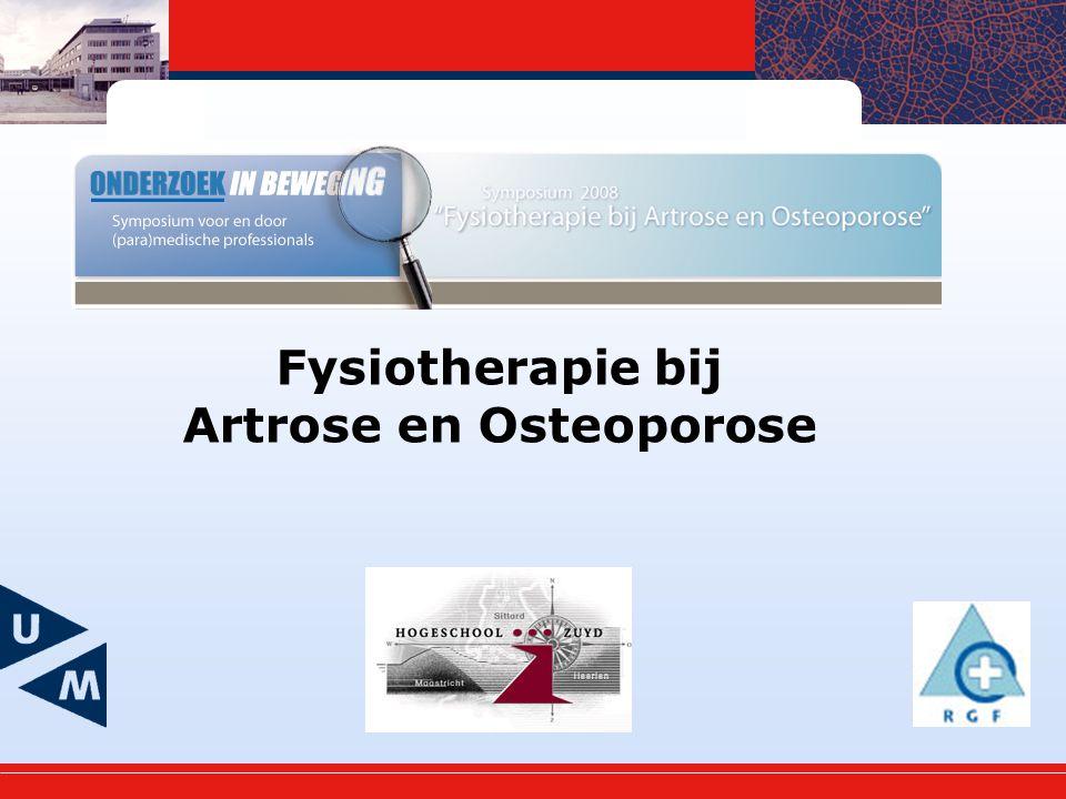 Fysiotherapie bij Artrose en Osteoporose