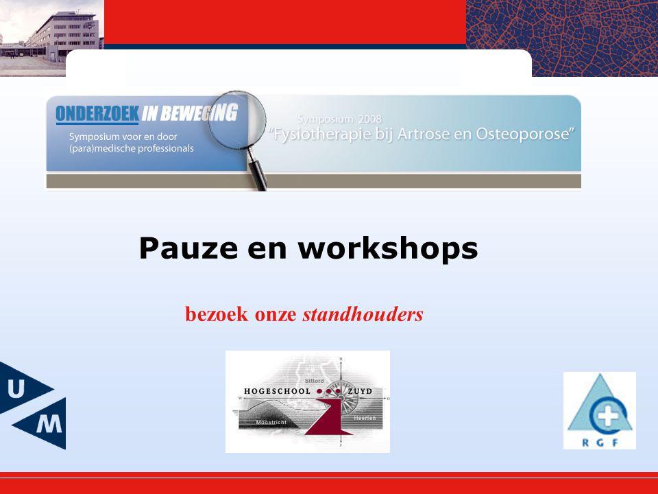 Pauze en workshops bezoek onze standhouders