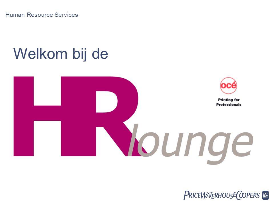 Welkom bij de Human Resource Services