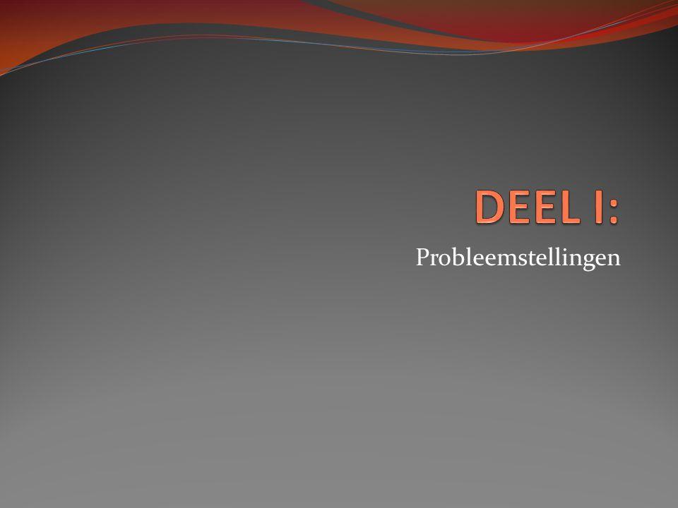 Probleemstellingen
