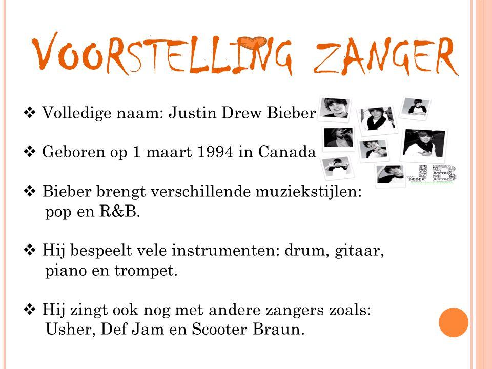 JUSTIN BIEBER Muziekproject vijfde leerjaar Schooljaar 2010-2011 Marie Wittevrongel