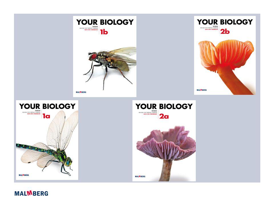 Opzet Your Biology  Gebaseerd op Biologie voor jou onderbouw  Alle basisstoffen + selectie extra basisstoffen en verrijkingsstoffen, toetsen en samenvattingen  Leerjaar 1 en 2-3 havo/vwo  Twee halfjaardelen handboek, werkboek en antwoordenboek  ICT in de vorm van ePack