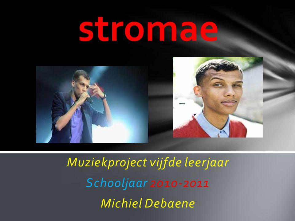 Muziekproject vijfde leerjaar Schooljaar 2010-2011 Michiel Debaene stromae