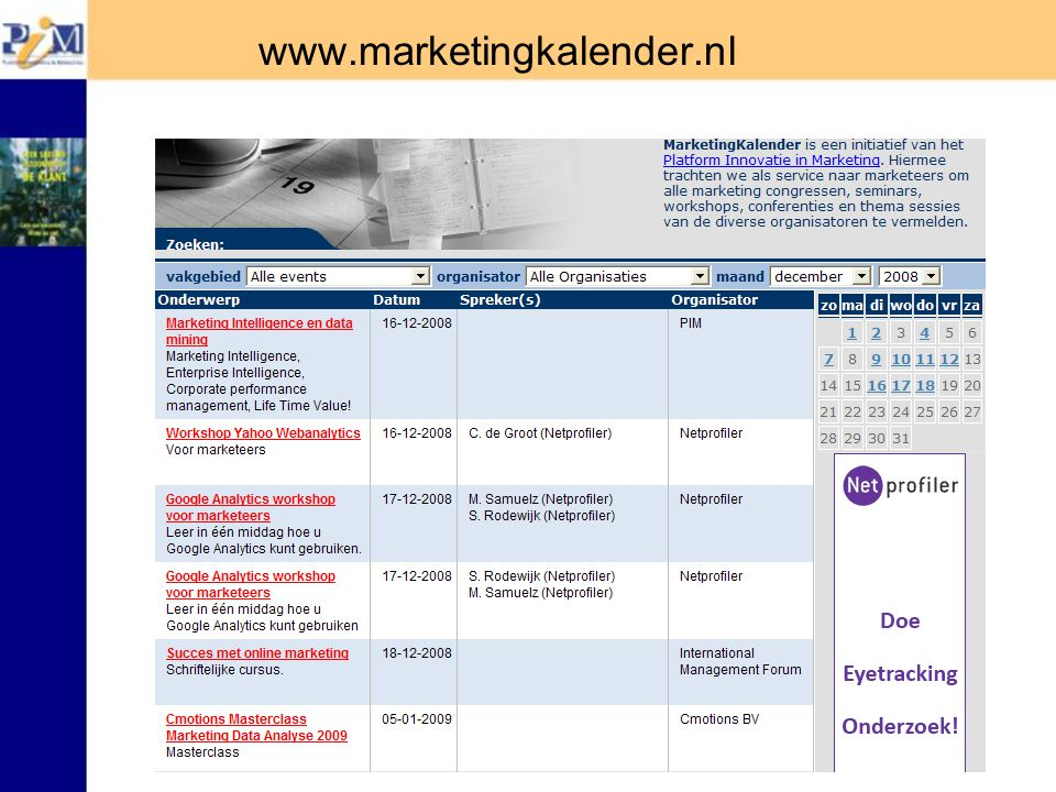 www.marketingkalender.nl