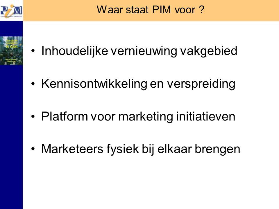 Waar staat PIM voor .