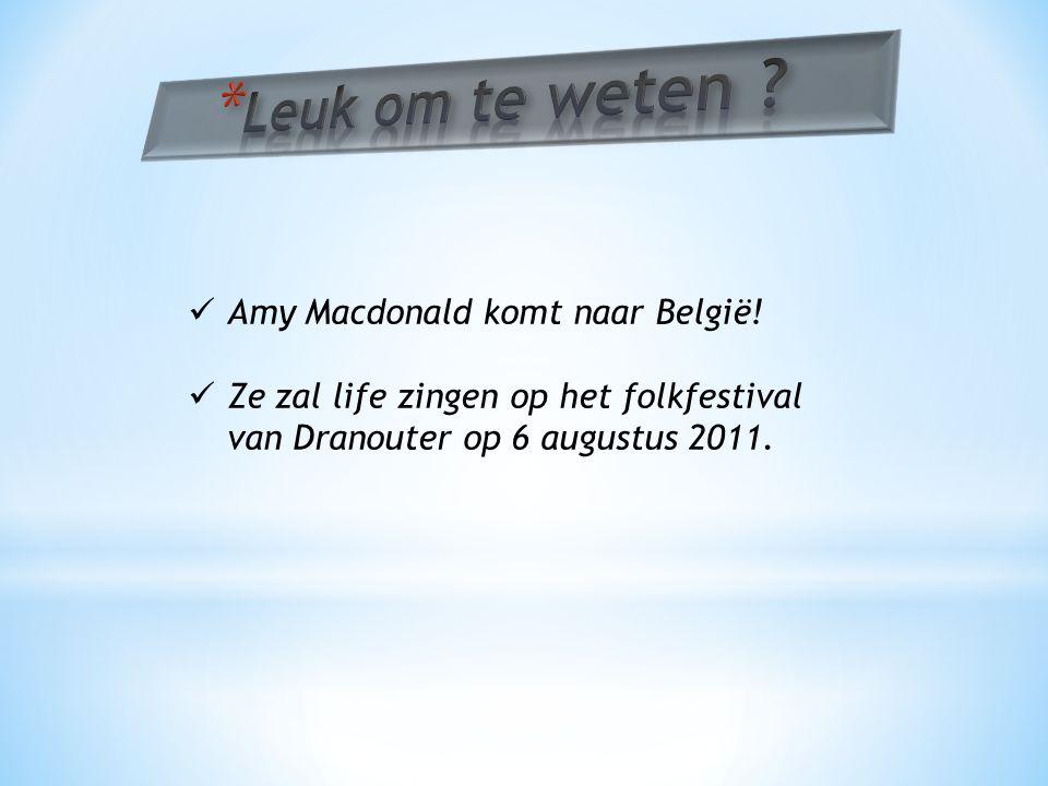 Amy Macdonald komt naar België.