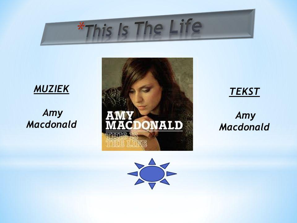 Hier komt een prent van de cd of single MUZIEK Amy Macdonald TEKST Amy Macdonald