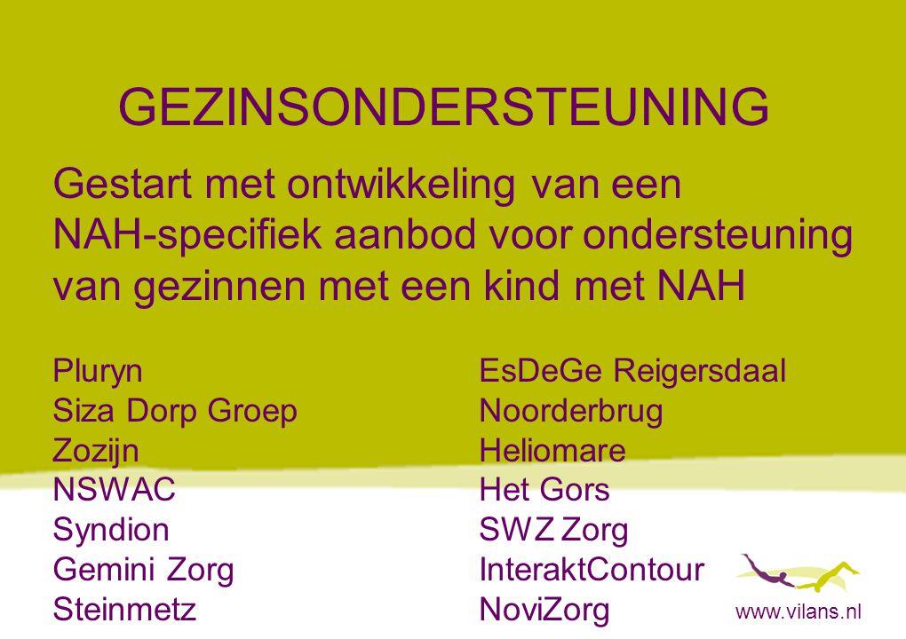 www.vilans.nl GEZINSONDERSTEUNING Gestart met ontwikkeling van een NAH-specifiek aanbod voor ondersteuning van gezinnen met een kind met NAH PlurynEsD