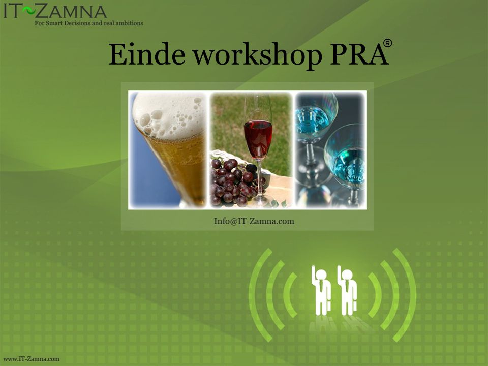 Einde workshop PRA ®