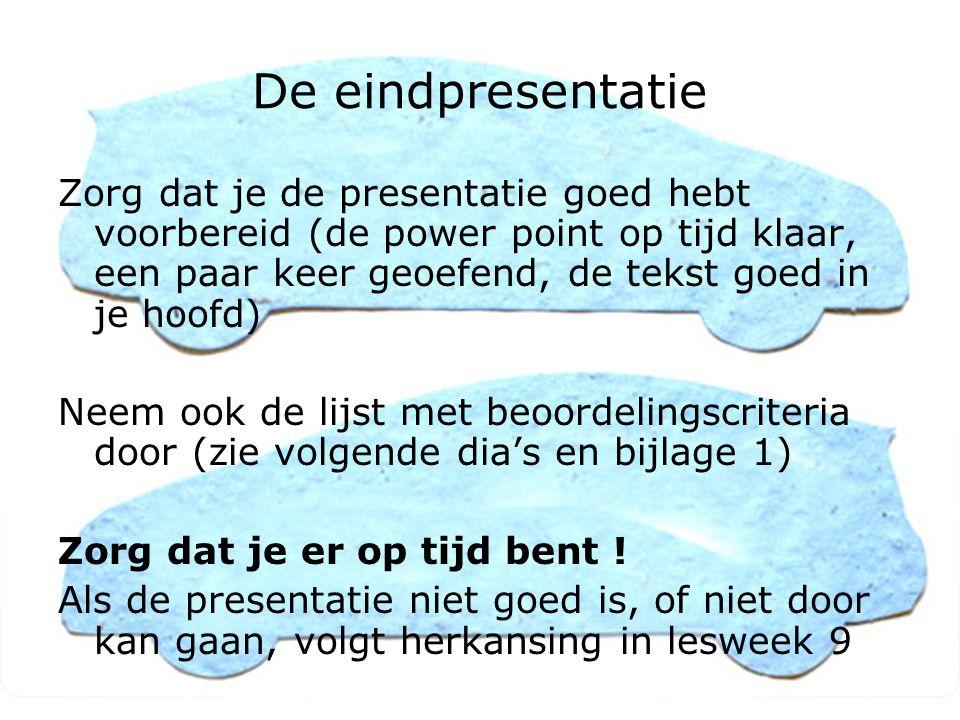 Beoordeling presentatie Op de allereerste plaats: is de presentatie overtuigend .