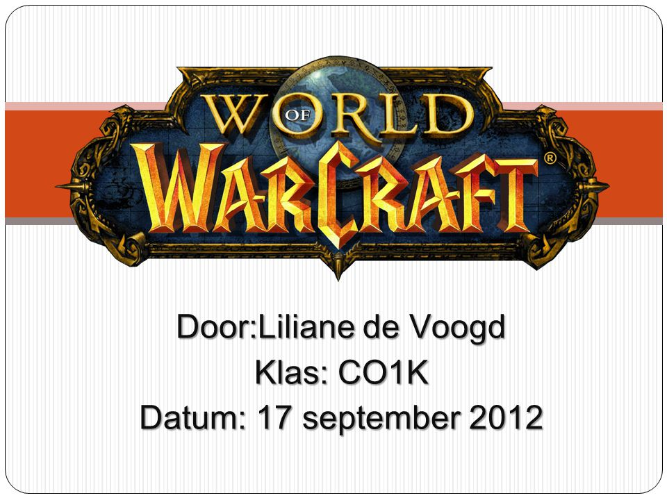 Door:Liliane de Voogd Klas: CO1K Datum: 17 september 2012